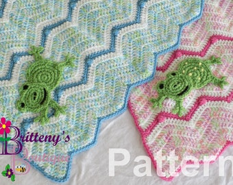 Frog Blanket Crochet Pattern Baby Frog Blanket Crochet Pattern Baby Blanket Crochet Pattern Little Froggy Blanket Crochet Pattern