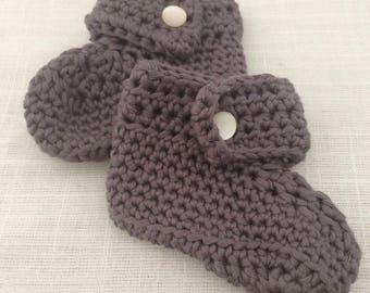 Handmade winter booties