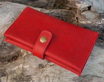 """Purse """"Wolf red"""" (P006.4)free shipping"""
