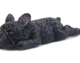 French / French Bulldog magnet - black