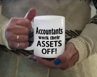 Ceramic accountant mug, ceramic coffee mug, accountant gift items, coffee mugs, accountant gifts, accountant mug, coffee cups, accountants