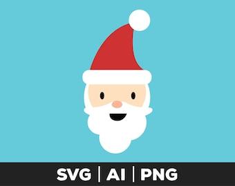 santa svg - christmas svg, santa face svg, holiday svg, santa claus svg, santa, santa clip art, cuttable file, xmas svg, cut file svg