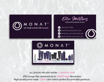 Custom Monat Business Card, Monat Business Card, Monat Watercolor Business Card, Custom Monat Hair Care Card, Printable Business Card MN25