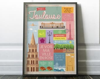 Poster A3 Hello Toulouse