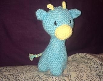 Cuddly Amigurumi Giraffe : Crochet LambCute and Cuddly Crochet Critter PillowCrochet