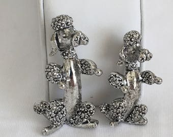 Gerry's Poodle Brooch Pair, Mom and Baby Brooch, Dancing Poodle Brooch, Dog Brooch, Gold Tone, Pin, Vintage, 1950s