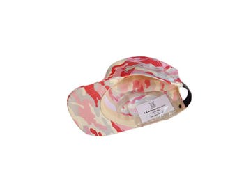 Pink Camo Military Cadet Hat with Pockets