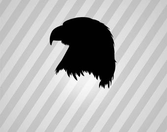 eagle head Silhouette - Svg Dxf Eps Silhouette Rld RDWorks Pdf Png AI Files Digital Cut Vector File Svg File Cricut Laser Cut