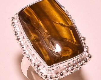 Beautiful Golden Tiger'S Eye Gemstone Ring