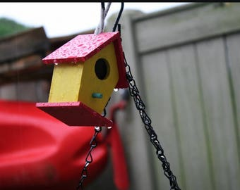 Red and Yellow Birdhouse