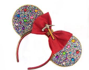 Snow White Mine Train Mouse Ears | Snow White Ears | Seven Dwarfs Ears | Mouse Ears Headband | Mouse Ears