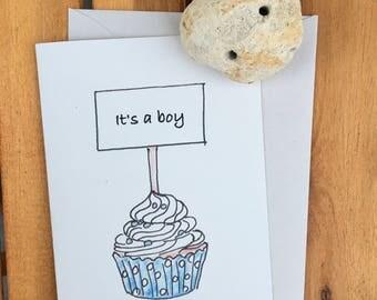 Birth announcement for a boy
