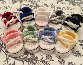 Crochet Baby Converse Shoes