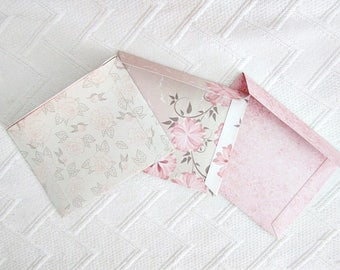 Vintage shabby romantic envelope powder