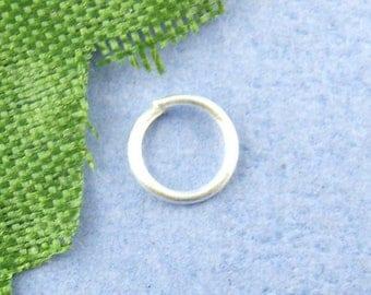 set of 10 grams of rings open silver 6mm in diameter