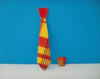 Cut tie madras for scrapbooking and card