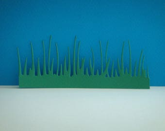 Cut grass with 5 cm for scrapbooking and card