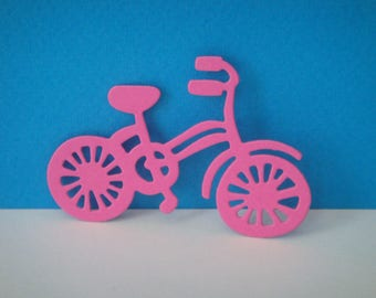 Bicycle cut dark creation pink girl drawing paper