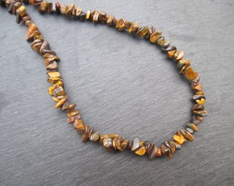Tiger's eye - Chips beads 5-12 mm * 1 strand 85 cm