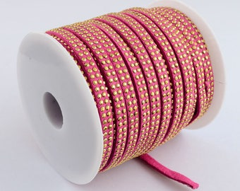 1 meter 6 mm studded suede cord