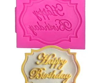 HAPPY BIRTHDAY for polymer clay and/or food silicone mold