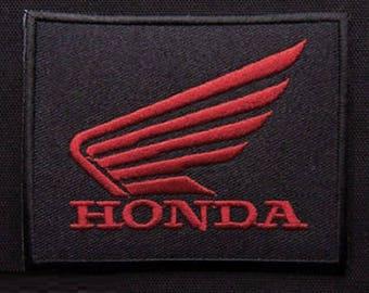FABRIC FUSIBLE APPLIQUE: Honda 90 * 60mm