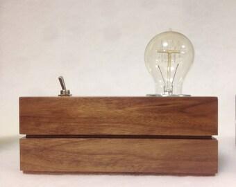 Walnut lamp