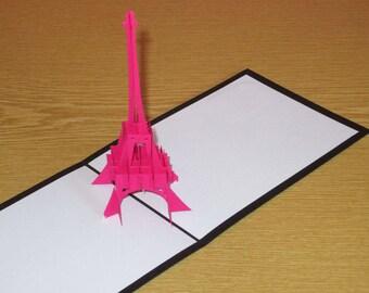 Card Eiffel Tower Love Paris 3D