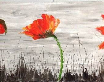 """The emergence of the poppy"" painting - poppy - poppy painting painting"