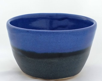 Blue and black bowl