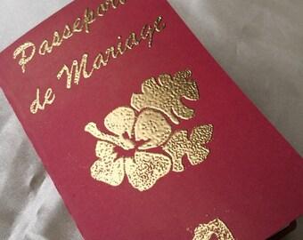 travel passport wedding invitation