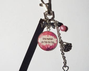 "Keychain - MOM gift bag charm ""A the best MOM"" / mother's day"