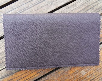 Purple Leather CHECKBOOK holder