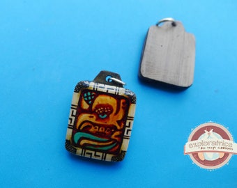 Pendant rectangle calendar maya 20x27mm