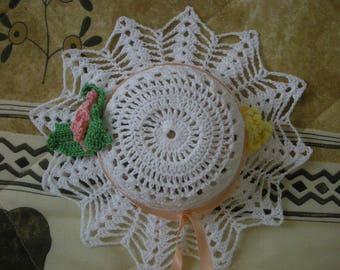 capeline blanche au crochet