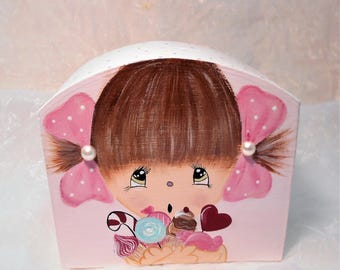 "Piggy bank for girls ""Sophie and sweets"""