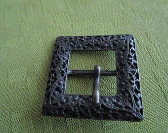 bronze square belt buckle