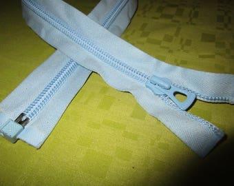 paper color blue nylon zip