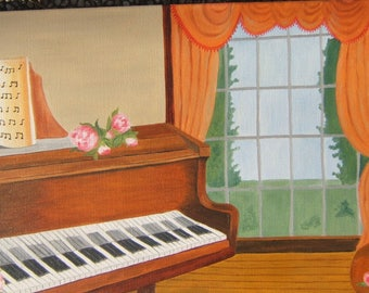 painting entitled piano oil