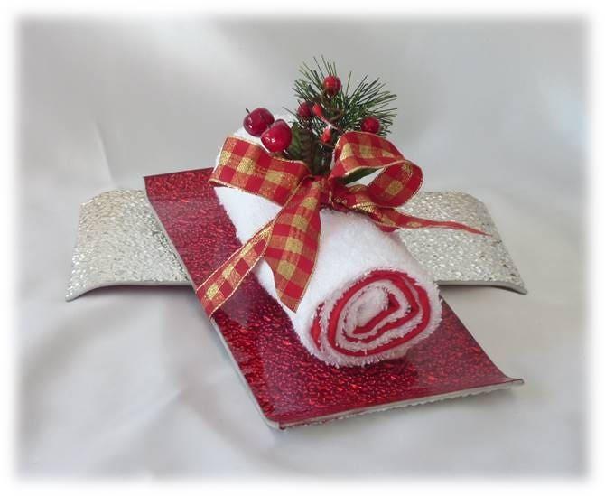 cadeau d 39 invit d coration pour no l serviette. Black Bedroom Furniture Sets. Home Design Ideas