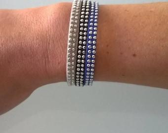Bracelet suede rhinestone