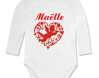 Angel personalized with name Bodysuit