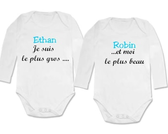 twin Bodysuit set I'm the biggest and... personalized with name
