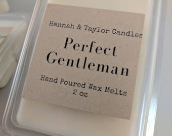 Perfect Gentleman Handmade Wax Melt | Men Cologne Scented Wax Tart | Masculine Scent Candle | Masculine Soy Wax Melt | Gift for Him