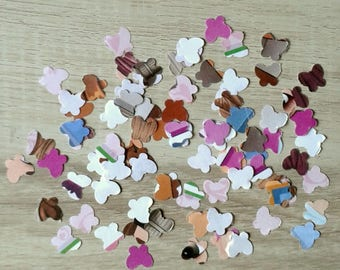 Set of 100 confetti butterflies - fancy paper - T8