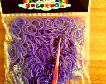260 - 10 clasps - 1 Purple elastic crochet