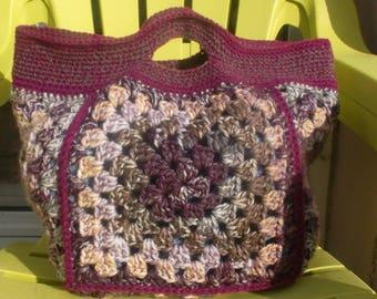 """Bacchus"" Tote crochet plum"