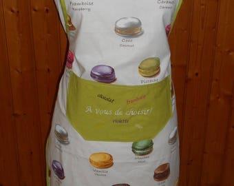 Adult apron 'buttons' ecru background