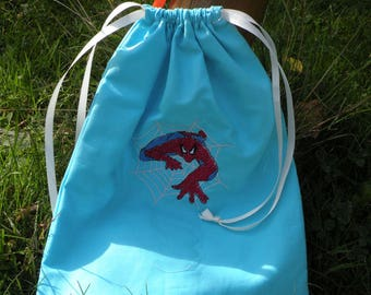 baby shoes, snacks or other spiderman embroidery handbag