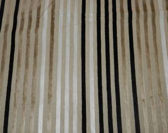 Striped fabric cut